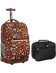J World Combo Rolling Backpack & Lunch Bag Back to School Bundle Set Sundance / Cody