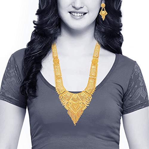Mansiyaorange Party Collection Jewellery Neckalce Sets for Women (One Gram Golden 9 Inch Long)