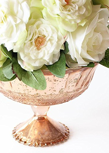 SNK Enterprises (SEI-) Wedding Decoration Mercury Glass Compote Bowl in Blush Copper - 5