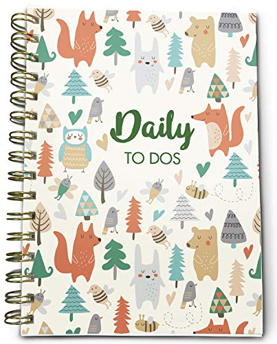 (Bright Day Calendars New UNDATED Daily to-Do List Book Planner - Notes, Goals, to Do's Planning System - 8.25