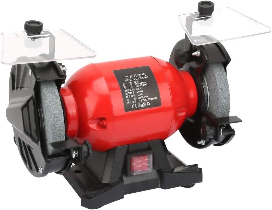 220V//50HZ Drehzahl: 2950 rpm//min Cocoarm 5in Doppelschleifer 250W Doppelschleifmaschine EU Stecker