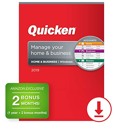 Quicken Home & Business 2019 Personal Finance Software 1-Year + 2 Bonus Months [Amazon Exclusive] [PC Online Code]