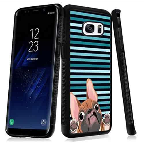 GPS Accessories Beemars Customized Red Blue Fish Case for Samsung Galaxy S9 Plus Black Rectangle TPU Protective Anti-Slip Bumper Samsung Galaxy S9 Plus Phone Case