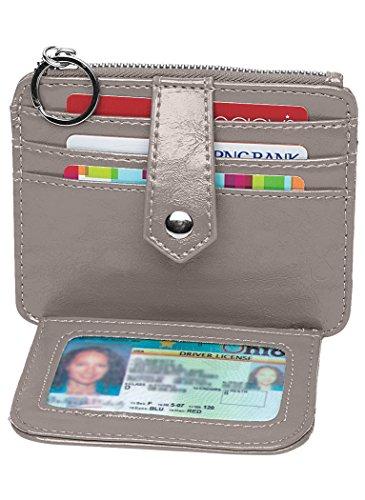 Metropolitan Capri ID Credit Card Wallet, Grey, 4