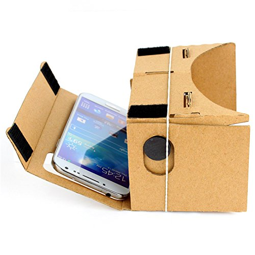 EUG Google Cardboard Valencia Quality 3d Vr Virtual Reality Glasses for iPhone Samsung HTC Moto X Nexus Cellphones