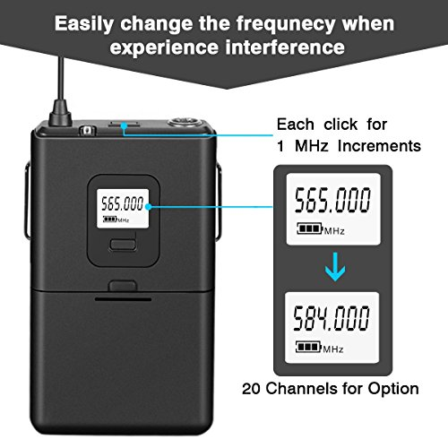 Wireless Microphone System,Fifine Wireless Microphone set with Headset & Lavalier Lapel Mics, Beltpack Transmitter&Receiver,Ideal for Teaching, Preaching and Public Speaking Applications.(K037B) - Image 3