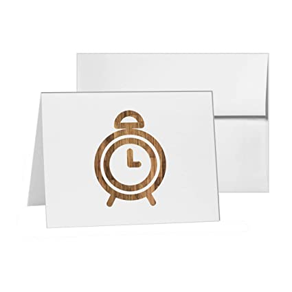 Amazon com : Clock Alarm Time Reminder Analog, Blank Card