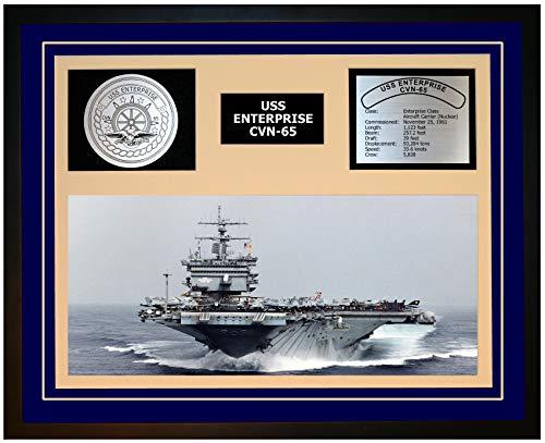 Navy Emporium USS Enterprise CVN 65 Framed Navy Ship Display ()