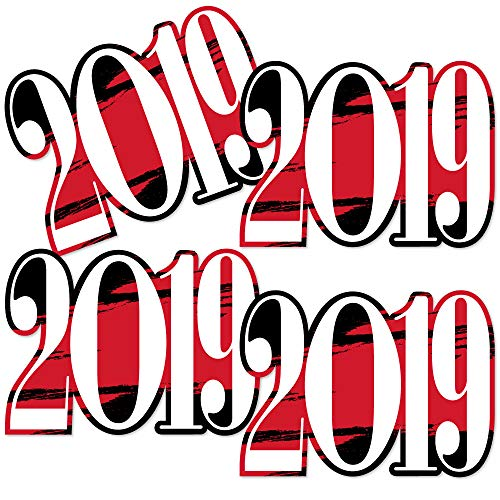 Red Grad 2019 - Best is Yet to Come - 2019 Decorations DIY Red Graduation Party Essentials - Set of 20