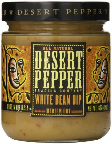 Desert Pepper Trading Company,  White Bean Dip, Medium Hot, 16oz