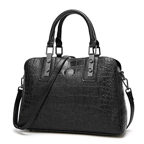 américaine sacs Simple Bag À Zm à et 2018 mode de Noir Dames Nouveaux Sac Motif bandoulière européenne Bag w1IqPxId7