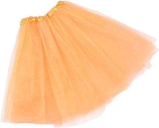 Gjyia 12 Colores Mujer Adulto de Tres Capas de Tul Falda de Ballet ...
