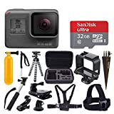 GoPro HERO5 Black Sports Action Video Camera - Waterproof to 33', + SanDisk Ultra 32GB Card + Hard Case + Monopod + Flexible Tripod + Chest & Head Strap + Spike Mount + Jaw Clamp – Accessory Bundles