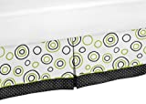 Spirodot Lime and Black Queen Bed Skirt for Childrens Teens Bedding Sets by Sweet Jojo Designs