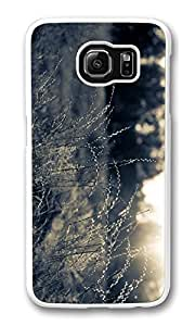 Galaxy S6 Case, S6 Case,Summer Field Black And White Shock Absorption Bumper Case Protective Slim Fit Hard PC Cover for Samsung Galaxy S6 White