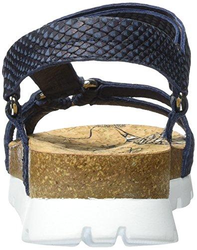 Mujer con Jack Panama para Azul Snake Sandalias Sally Navy Cuña H7BHcqwvR