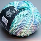 Lana Grossa - Cool Wool 716–Pelote de laine mérinos ultra fine de 50g - Couleur:Bleu/gris 728
