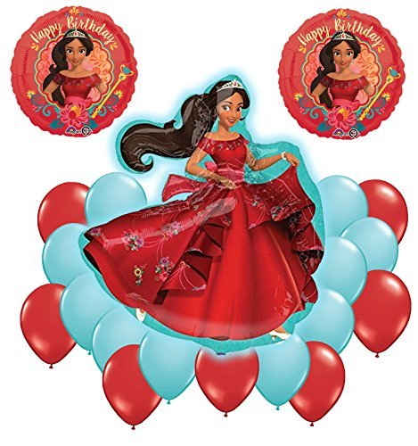 Elena Of Avalor Supershape Happy Birthday Balloon Bouquet Decoration Kit 20pc by Anagram