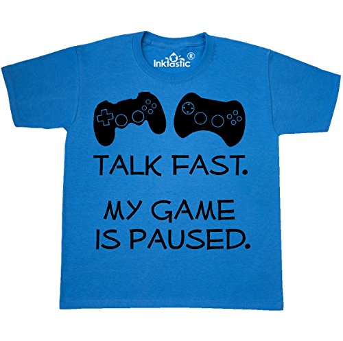inktastic - Talk Fast. My Youth T-Shirt Youth Large (14-16) Pacific Blue 31024