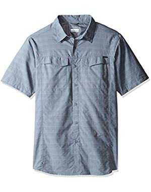 Men's Big-Tall Silver Ridge Multi Plaid Short Sleeve Shirt, Grey Ash Dobby Plaid, 1X
