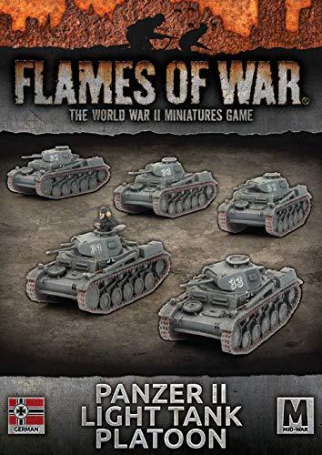 War Panzer German (Flames of War: Mid War: German: Panzer II Light Tank Platoon (GBX108))