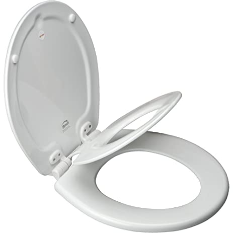 non slam toilet seat. Bemis 1583 Slow Elongated Flip Toilet Potty Seat  Seats