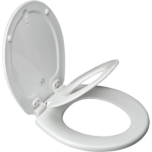 Bemis 1583 Slow Elongated Flip Toilet Potty Seat - Toilet Seats ...