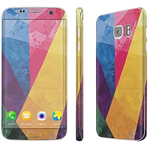 Galaxy [S7 Edge] Skin [NakedShield] Scratch Guard Vinyl Skin Decal [Full Body Edge] [Matching WallPaper] - [Rainbow Fabric] for Samsung Galaxy [S7 Sales