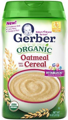 Cereal Gerber Baby, harina de avena orgánica, 8 Onza