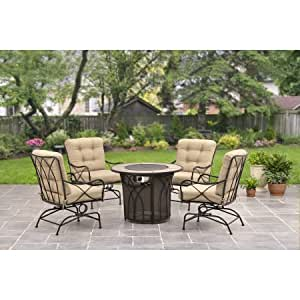 Better homes and gardens seacliff 5 piece gas - Better homes and gardens gas fire pit ...