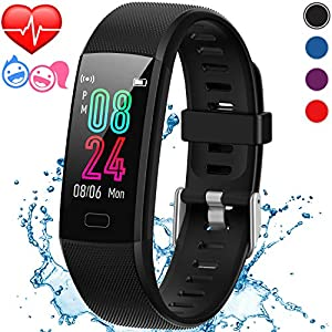 Inspiratek Kids Fitness Tracker for Girls and Boys Age 5-16 (4 Color Option)- Waterproof Fitness Watch for Kids with Heart Rate Monitor, Sleep Monitor, Calorie Counter and More – Kids Activity Tracker