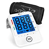 Blood Pressure Monitor - Amzdeal Upper Arm Blood Pressure Cuff BP Machine with Heartbeat Detector, Memory Storage for 2 Users, Home Use, FDA Approved