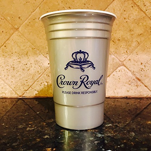 Crown Royal Silver Plastic Cups (Set of (Crown Royal Drink)
