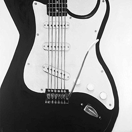 Black Electric Guitar by Atelier B Art Studio 39