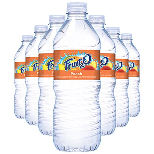 Fruit2o Peach Flavored Water, 16.9 fl oz Plastic Bottles (24 Plastic Bottles)