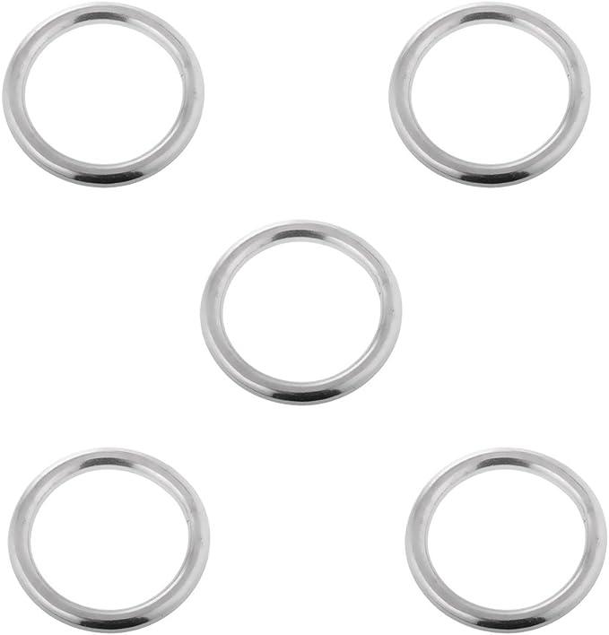 D Ring Edelstahl A4 VA 3-8 mm D-Ring geschweißt Ringe Rundring poliert rund
