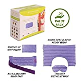 Nature Creation Full Treatment Set- Herbal Heating Pad / Cold Pack - Hot and Cold Therapy (Purple Marble)