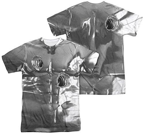 [Terminator 2 - T1000 Costume (Front - Back Print) T-Shirt Size XL] (Cameron Terminator Costume)