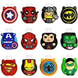 Pack of 12 Cute Cartoon Kids Portable Travel Keyring Containers,Sold with 30 ml Empty Bottles, Perfect for School, Travel, Ou