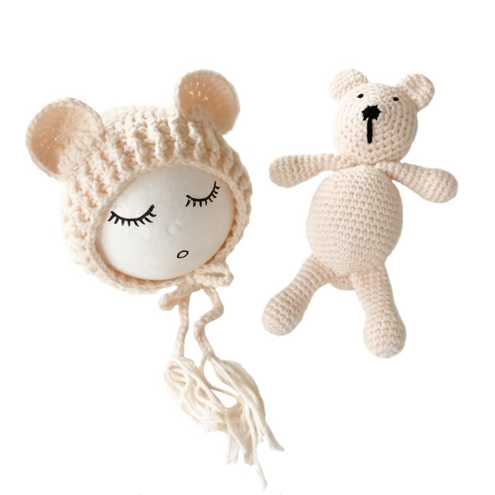Crochet Newborn Baby Bear Outfit Set Costume Newborn Photo Outfit Boy Crochet Bear Outfit Bear Photo Prop Outfit Baby Shower Gift Bear Hat
