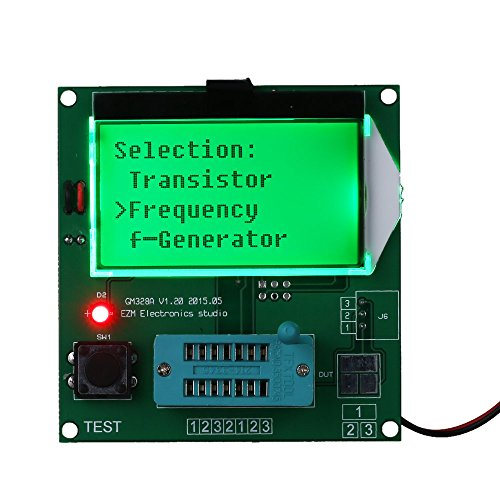 Frequency Square Wave Generator LCD Diode Triode Capacitance ESR Meter for MOS/PNP/NPN L/C/R GM328 Functional Transistor Tester