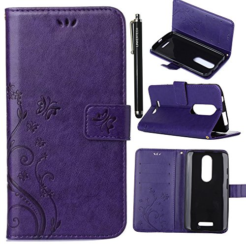 ase, Linkertech [Kickstand Feature] PU Leather Wallet Flip Pouch Case Cover With Wrist Strap & Card Slots For Motorola Droid Turbo 2 / Moto X Force (C-4) ()