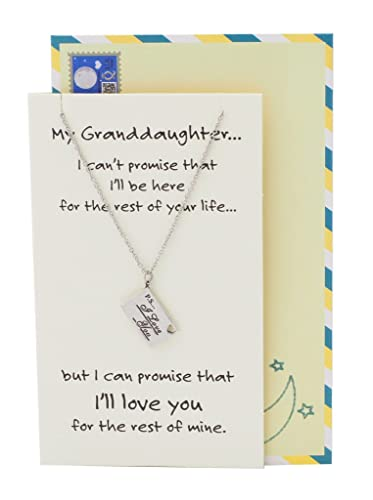 Amazoncom Quan Jewelry Granddaughter Engraved Gifts Stainless