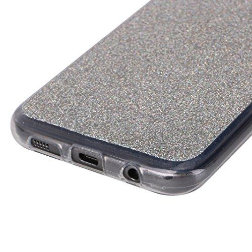 Galaxy S7 Edge Fundas, Galaxy S7 Edge Silicona Carcasa, Moon mood® Suave TPU Silicona Trasero Caso Cubierta Protectora Funda Móvil Celular Concha Blanda Flexible Capas Caja del Teléfono Cáscara Protec Plata