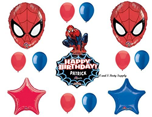 (SPIDER-MAN PERSONALIZED Birthday Party Mylar BalloonS Decorations Supplies Movie by Anagram)