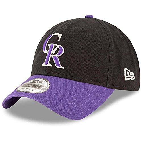 Colorado Rockies New Era Alternate Replica Core Classic 9TWENTY Adjustable Hat Black/Purple (Purple New Era)