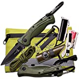Elk Ridge ER Survival Kits Includes Folder, Black