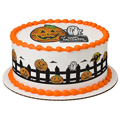 Chalk-O-Lantern Strips Edible Frosting Image Cake Strip Borders-3/page]()