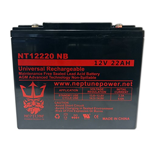 BW12220-IT Sealed AGM 12v 22 ah Battery replaces SCP12220, DMU12-22, CBE22-12, HGL22-12, EV12220, S-12220, SW12200, TR22-12, TP12-21, B20A, RBC39, DMU12-20, CB20-12, 6DZM19, CB22-12, HGL20-12, GS12V20AH, LP12-20, DJW12-20, LPX12-20, PT2012, PT2212, 6DZM20 by Bright Way