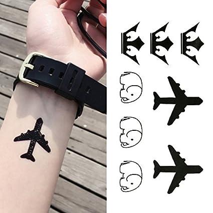 Oottati Tatuajes Temporales Aviones Corona Muñeca Elefante (Juego ...
